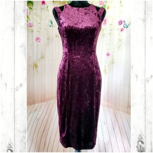 Maggy London midi velvet dress